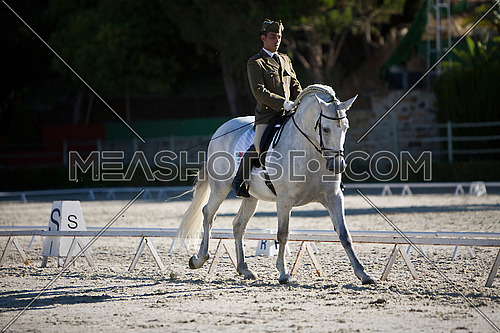 Rider competing in dressage competition classic, Montenmedio, Cadiz, Spain