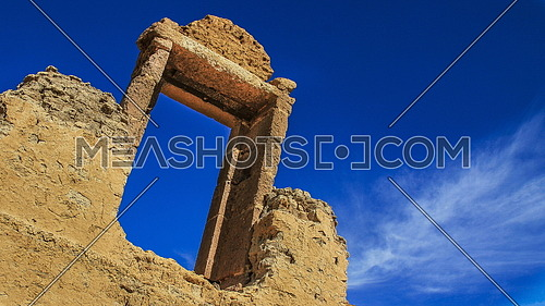 The ancient gate of a roman building in the city of karanis near Fayoum EGYPT