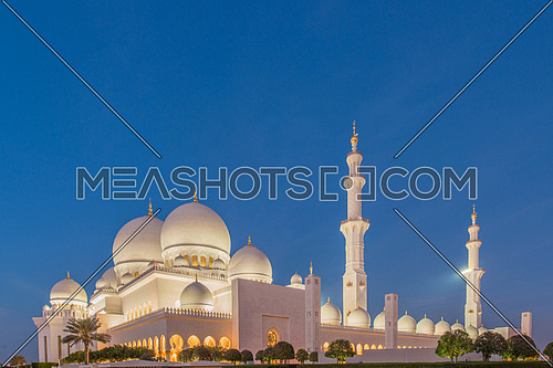 Sheikh Zayed grand Mosque In Abu Dhabi UAE