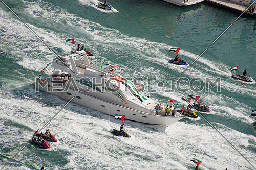 national day jet skies and yacht parade in marina on 1 december 2016