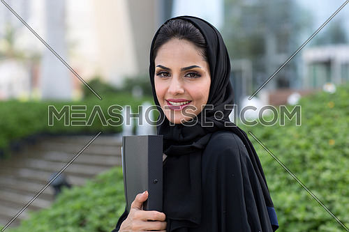 Student smiling after her exam in university