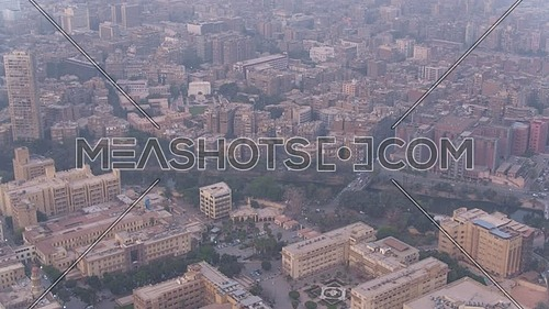 Fly over Shot Drone for The river Nile revealing Al manial Area,  in 22th of March 2018 at cairo