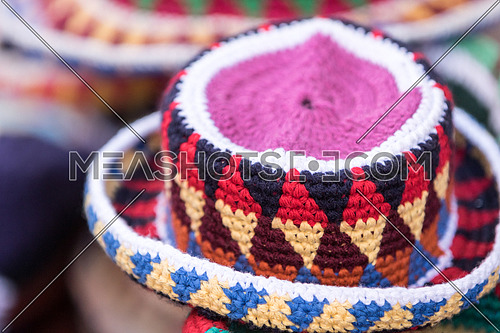Nubian hats in the market