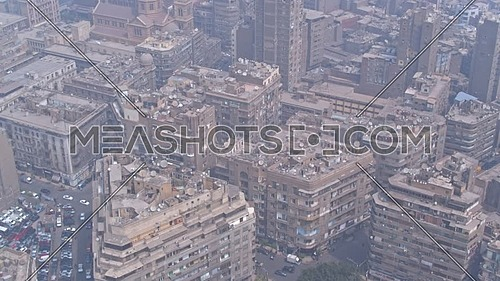 Fly Over Shot Drone for Cairo Downtown in 22 of March 2018 at Day.