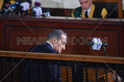 Former Egyptian president Hosni Mubarak testifies in court at 'Borders Break' case in front of Judge Mohamed Sherien Fahmy- December 2018.