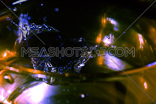 splash on a glass