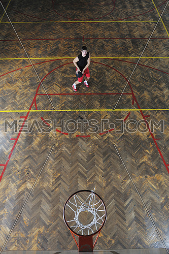 young and healthy people man have recreation and training exercise  while play basketball game at sport gym indoor hall