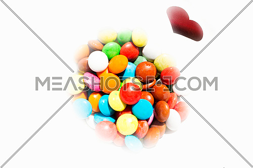 Colorful Little Candies On White Background