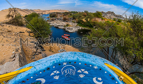 Spectacular scenery from one of the balconies of Nubian houses