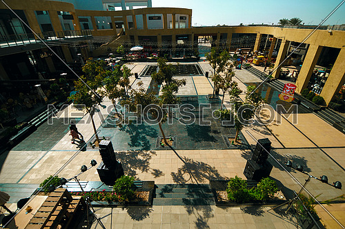 a top view of the outdoor mall HUB in cairo Egypt