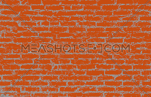 Vector illustration of grunge rough brown, brick wall background pattern