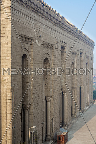 Side facade of Al Rifai historical mosque, Cairo, Egypt. View from from Al Rifai Street