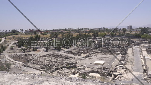 The iew from the top of Tel Beit She'an site
