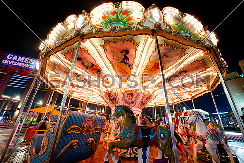 a carousel at night