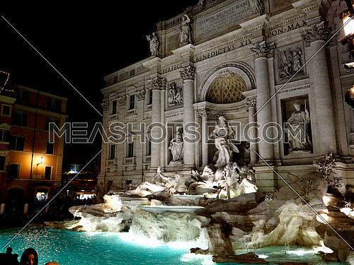 Trevi Fountain in  the night