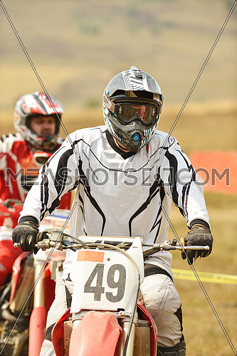 motocross bike in a race representing concept of speed and power in extreme man sport