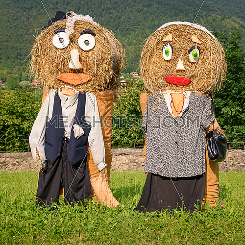 peasantry couple straw dolls square photo