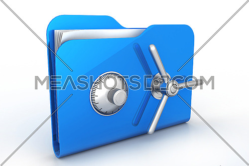 folder with safe lock