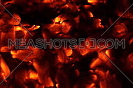Flames and fiery coals filmed at 120fps