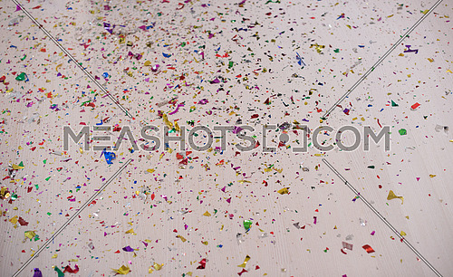 party confetti on the floor