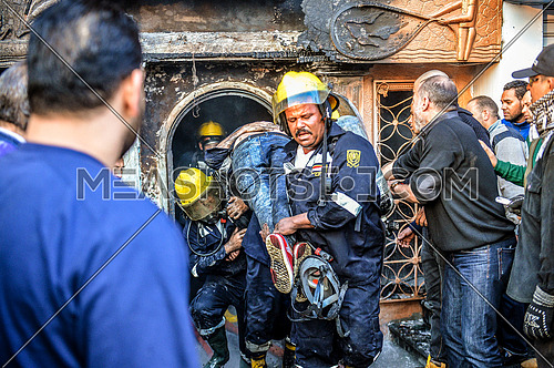 after attack on a nightclub at Giza leaving 16 dead people after fire erabted in the place blocking only exit on 5th of December 2015
