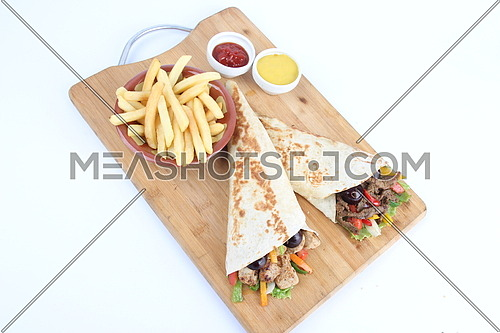 a photo for grilled chicken and meat sandwiches including french fries
