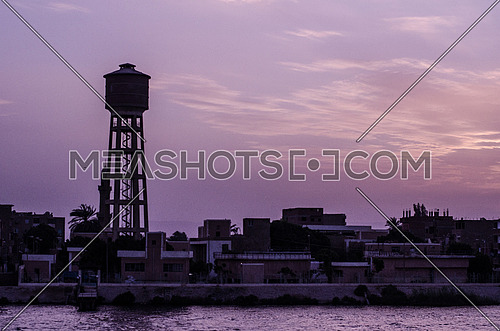 a big water tank by the river Nile in Egypt