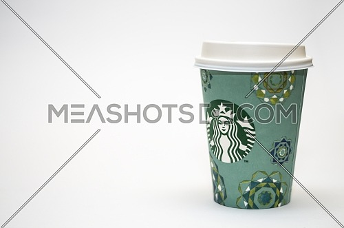 Cairo, Egypt: 8th of June 2018; Starbucks special occasion cup for Ramadan