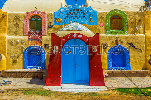 Nubian house  in the city of Aswan West Suhail area