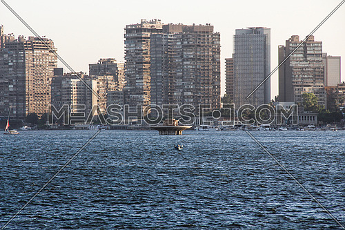 a cityscape photo showing the river nile in Cairo Egypt