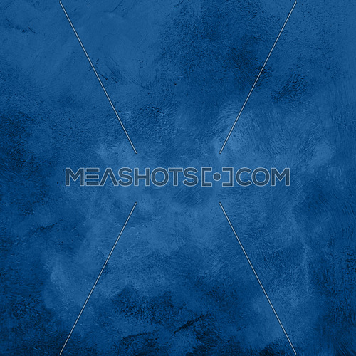 Blue abstract grunge surface texture background with uneven dark paint strokes
