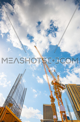crane in a dubai tower construction