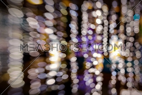 Colorful beautiful abstract bokeh lights bokeh defocused background