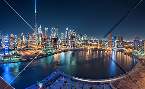 Burj Khalifa Launches the Light Ray in the sky in preparation for the new year eve