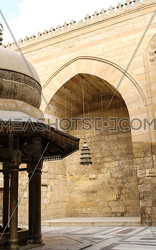 Long shot of Mosque-Madrassa of Sultan Barquq at day
