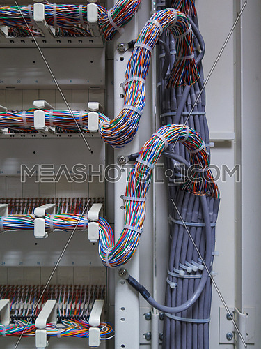 Cable connections to a distribution unit
