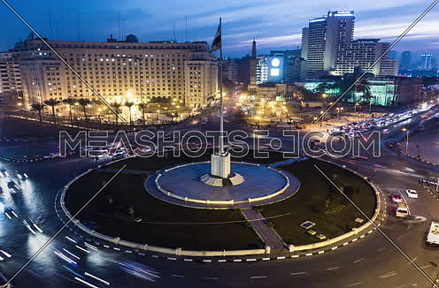 Fixed Shot for Tahrir Square from Day to Night