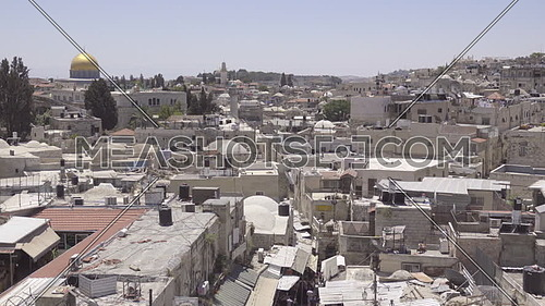 Pan above the Muslim quarter of Jerusalem