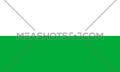 Wales National Flag in Green And White Colors 3D illustration