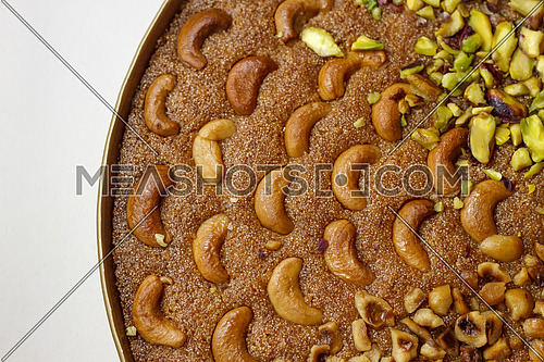 Basbosa Oriental sweets with Cashew and nuts