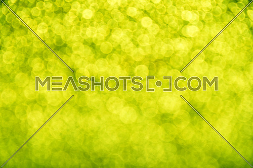 Spring glitter fresh green bright magic fairy light circles abstract blur effect background