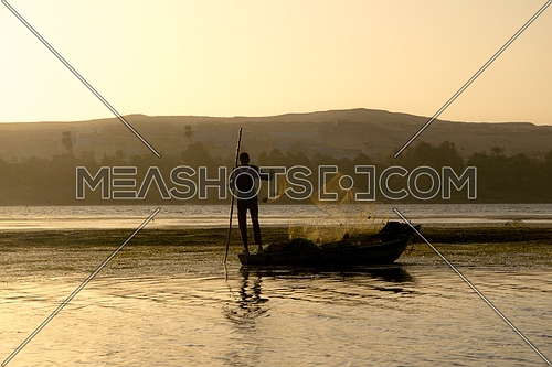 Fisher at Sunset in Aswan