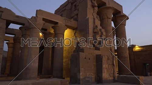 Track in for The Temple of Kom Ombo - Aswan, Egypt. by dusk