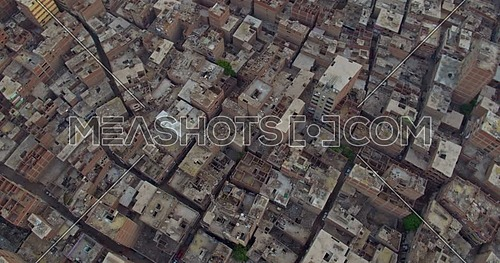 Fly over Shot for urban in Cairo city at day
