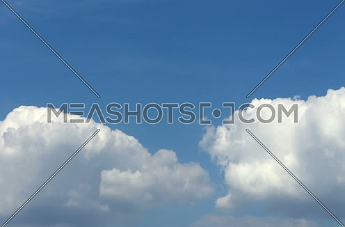 White Fluffy Clouds On A Blue Sky Timelapse