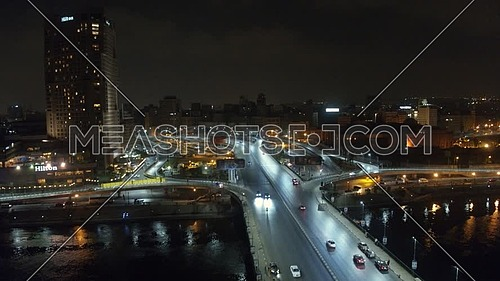 6 October Bridge with Hilton Ramses at Night, shoot on Inspire 2 with X5S