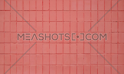 Pink painted ceramic tile wall pattern texture background