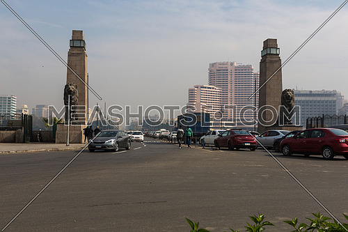 egypt, cairo, bridge, architecture, city, building, downtown, egyptian, cityscape, Cars, Lions, Qasr Al-Nile, قصر النيل, كوبري, سيارات
