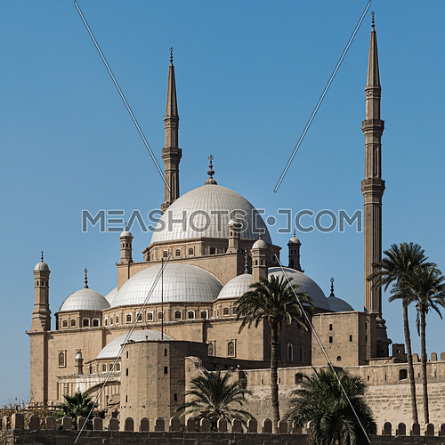 The great Mosque of Muhammad Ali Pasha (Alabaster Mosque), situated in the Citadel of Cairo in Egypt, commissioned by Muhammad Ali Pasha between 1830 and 1848. Considered as one of the landmarks and tourist attractions of Cairo