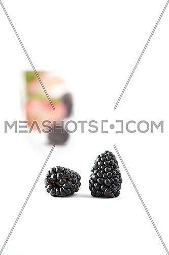berries on a white background
